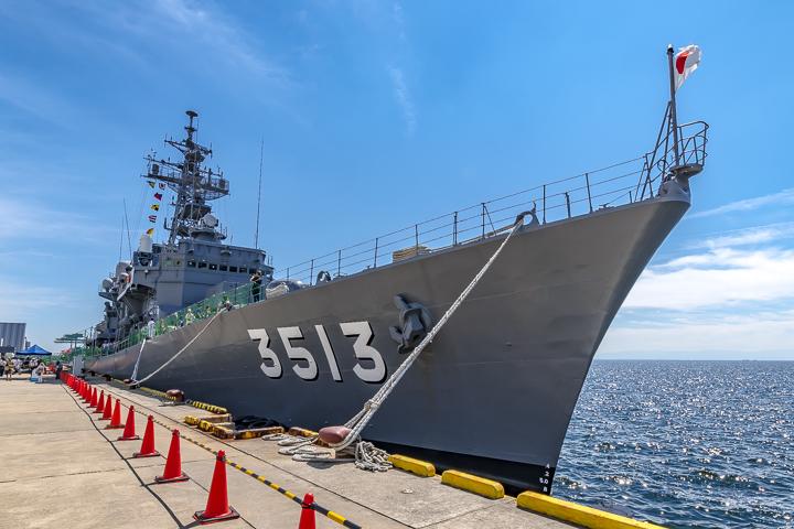 TV3513 練習艦 しまゆき 艦首より全景