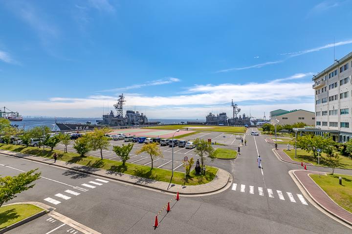 海上自衛隊阪神基地隊練習艦一般公開会場全景