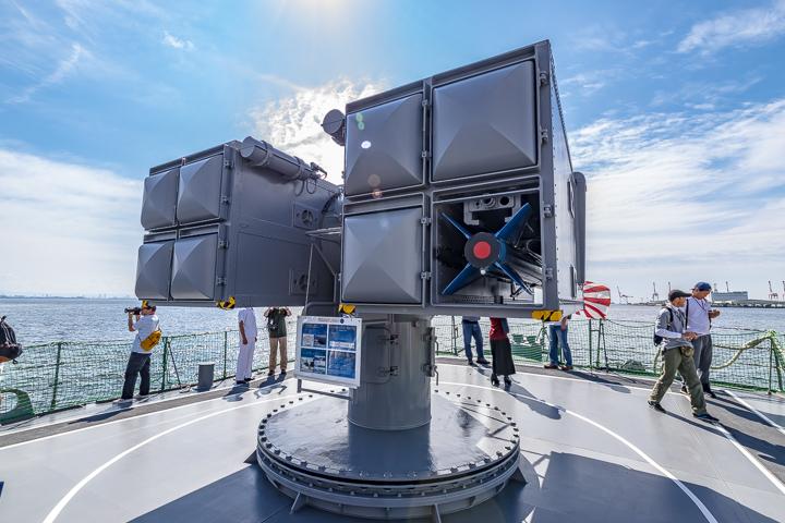 TV3518 練習艦 せとゆき 短SAMランチャー背面 シースパローミサイル模擬弾尾部