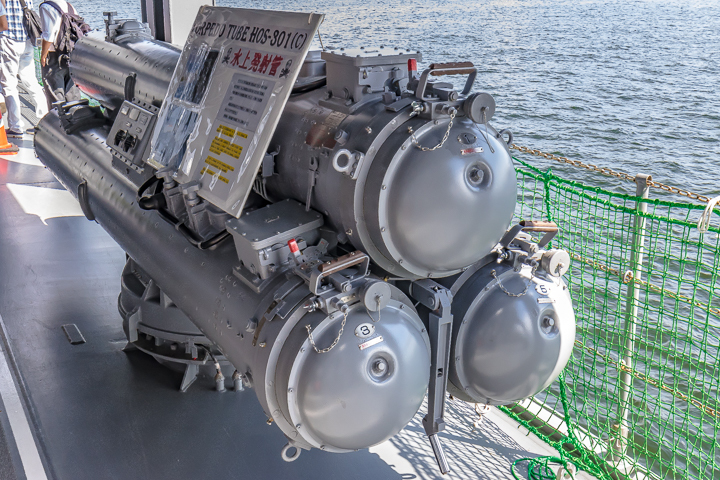 TV3518 練習艦 せとゆき 3連装短魚雷発射管 水上発射管 HOS-301(C) 背部