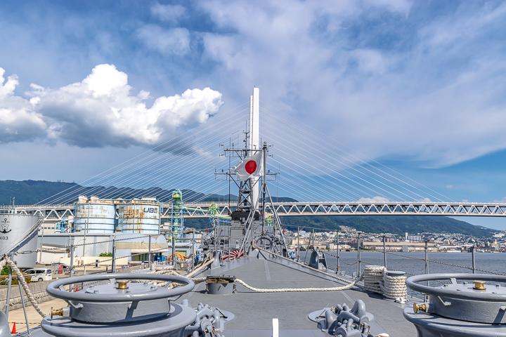 TV3518 練習艦 せとゆき 艦首旗竿 日本国旗 日章旗