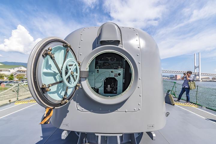 TV3518 練習艦 せとゆき 62口径76mm速射砲 砲塔背面ハッチオープン