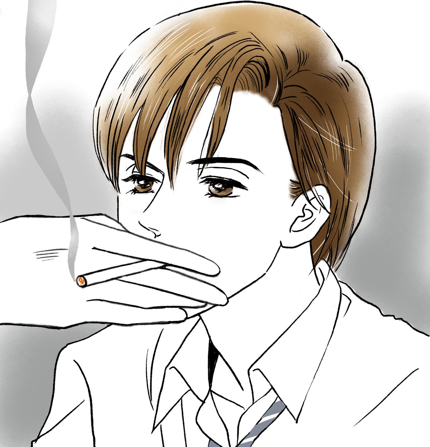 タバコ吸う薪さん