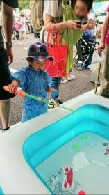 こばぶお祭りの魚釣り
