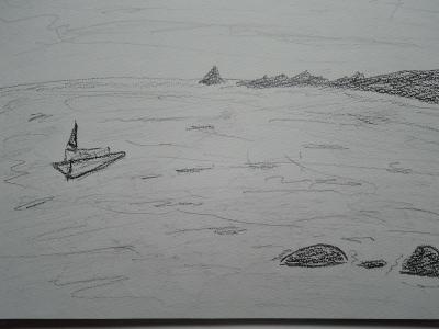 朝の稲取海