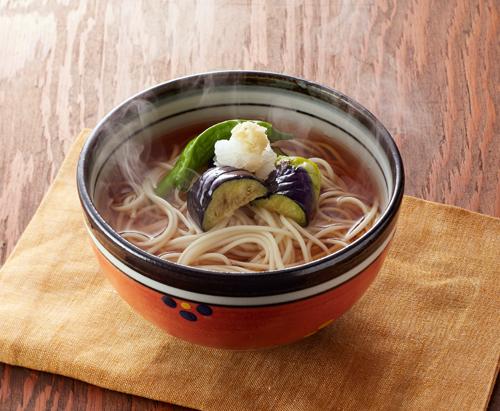 秋なすとししとう揚げ浸しオカベ麺