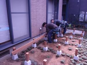 ウリン材を利用した拘りのウッドデッキ工事中継 :神奈川県横浜市鶴見区
