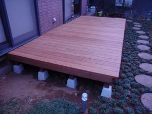 ウリン材を利用した拘りのウッドデッキ完成 :神奈川県横浜市鶴見区 A邸