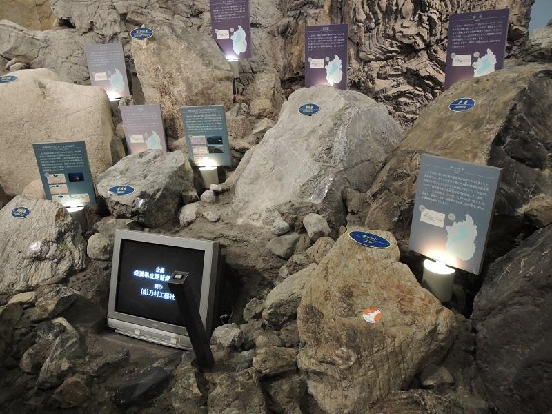 展示室A 岩石の展示