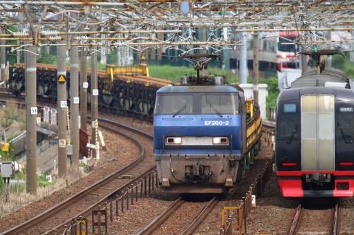 EF200-2代走・8090レ 下地駅