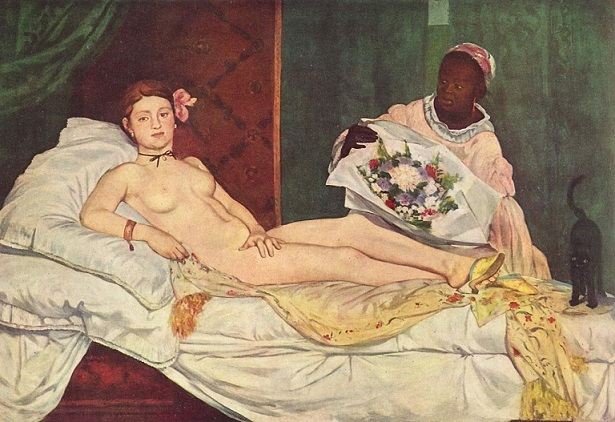 『オランピア』(1863、オルセー美術館、エドゥアール・マネ)