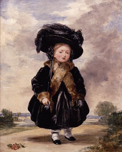 4歳の頃のヴィクトリア(ステファン・ポインツ・デニング画、1823年)