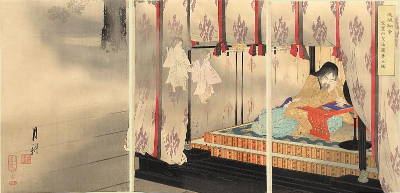 後醍醐天皇図(1890年、尾形月耕・画)