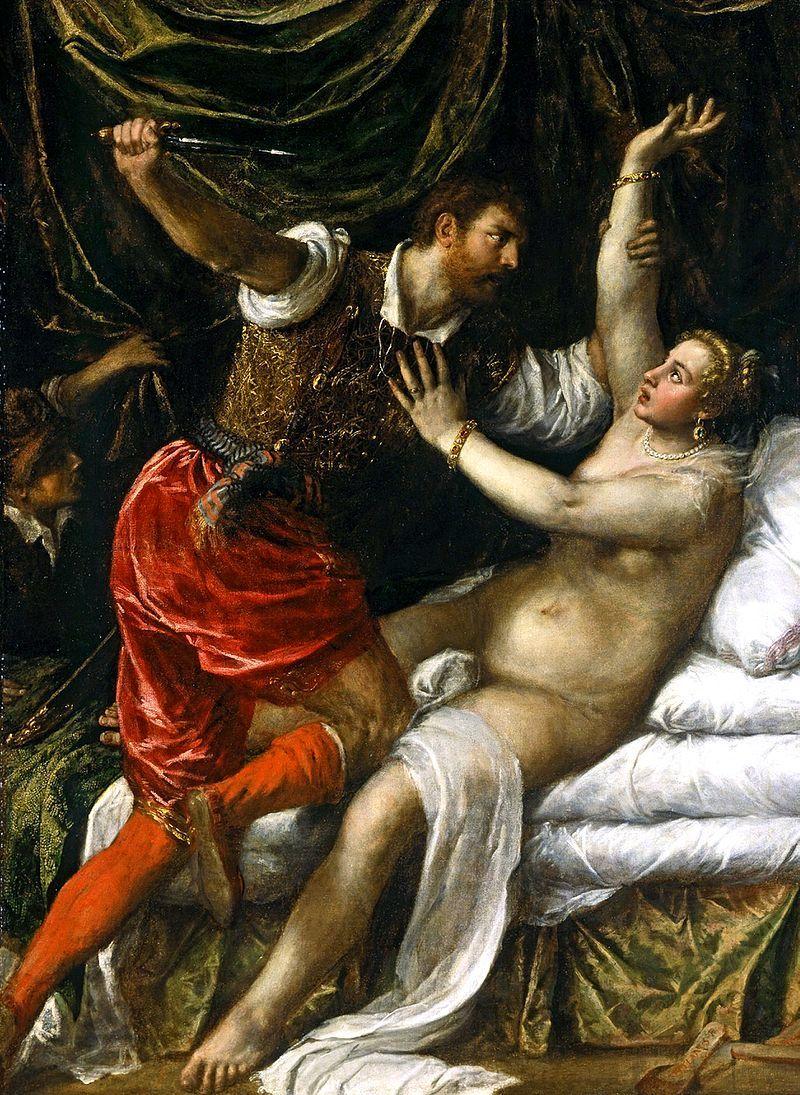 『ルクレーティアの凌辱』ティツィアーノ画、1571年