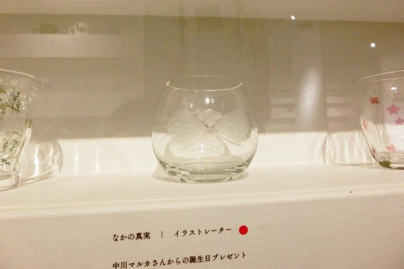 神谷麻理子 ひげぶくろ グラス 切子 コップ 猫 ねこ なかの真実 松屋銀座