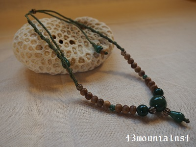 数珠リメイクネックレス 先生用 (2)