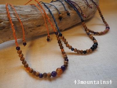 数珠リメイクネックレス 誕生石 (1)