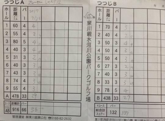 親水河川公園 初見プレー記 (1)