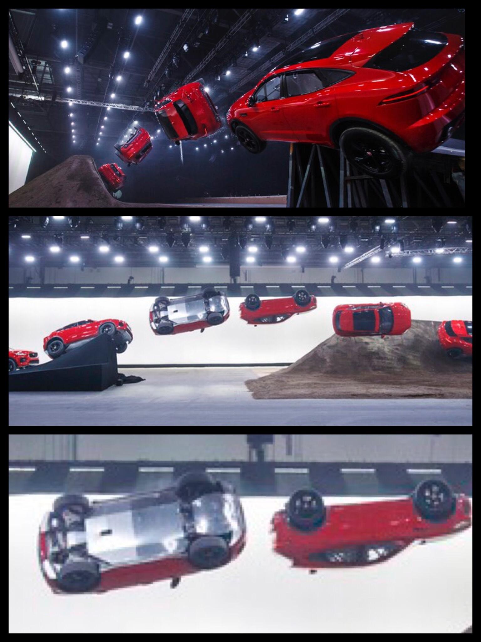 ジャガーE-PACE バロンロール 1回転ひねりジャンプ
