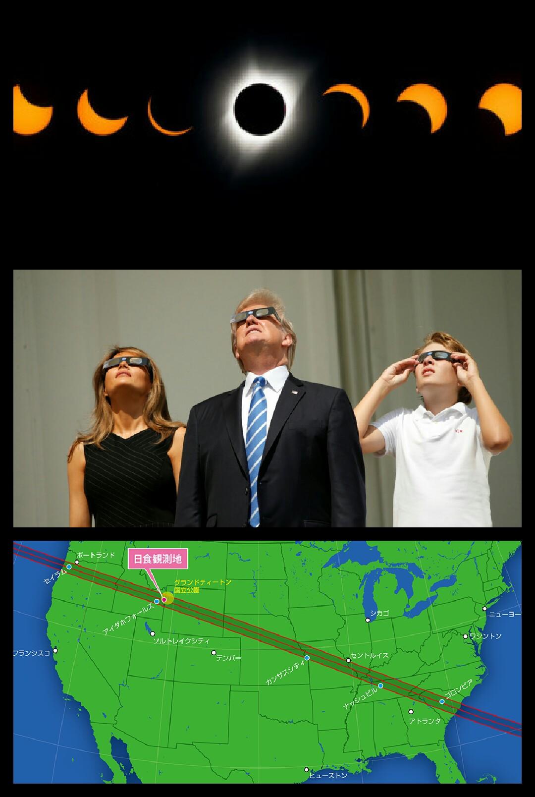 三菱エクリプスクロス 米国皆既日食