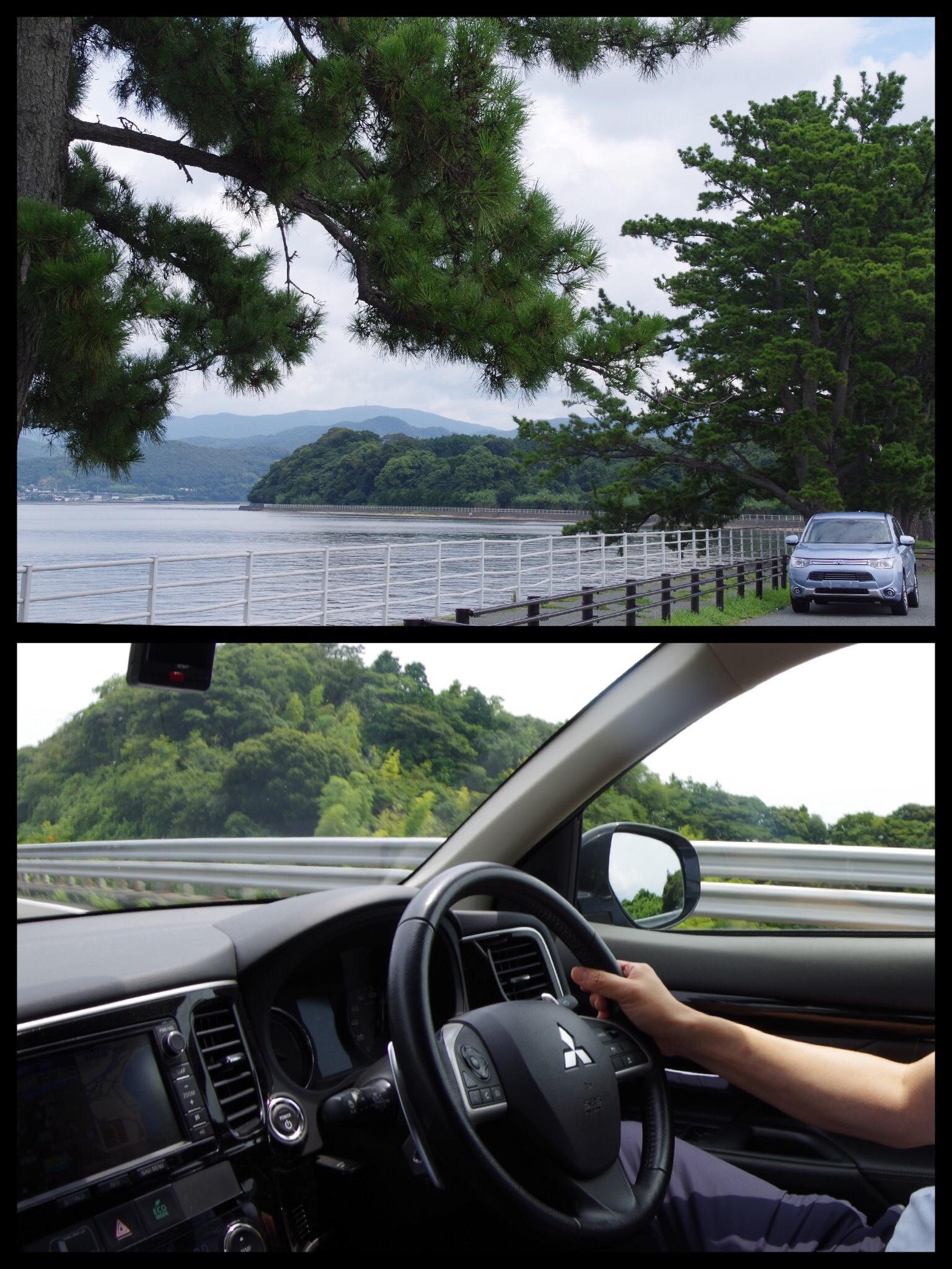アウトランダーPHEV 浜名湖から熱海