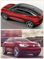 vw ID cross 2017 red ev