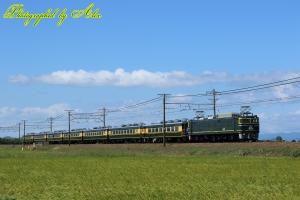 9912レ「サロンカーおわら」(=EF81-114牽引)