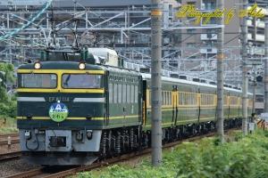 9915レ「サロンカーおわら号」(=EF81-114牽引)