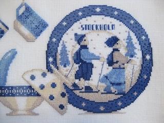 青のテーブルウエアプレート