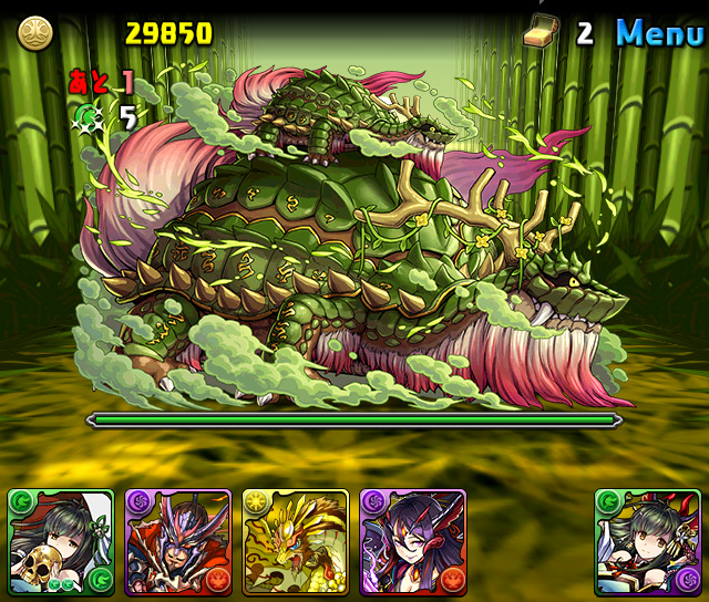 【パズドラ】8/21から木の戦武龍が開始。ボスは木の戦武龍・ガンゾ!!