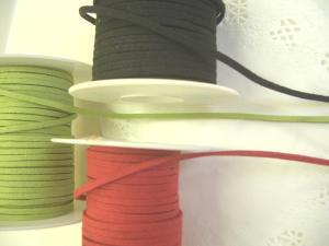 合皮コード:緑・赤・黒