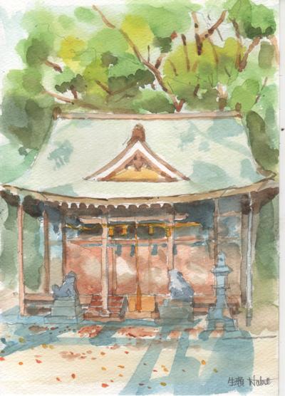 生瀬の神社で