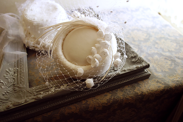 No 50 3# トーク帽 #トークハット #シルク #絹 Silk100% #ウェディング #ヘッドドレス