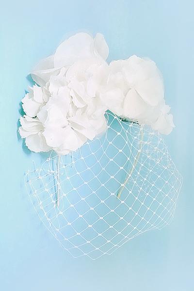 No 41 ★2 バードゲージ Silk100%絹コサージ ュカチューシャ ウェディング ヘッドドレス ヘッドアクセサリー