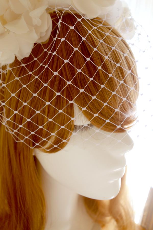 No 41 ★7 バードゲージ Silk100%絹コサージ ュカチューシャ ウェディング ヘッドドレス ヘッドアクセサリー