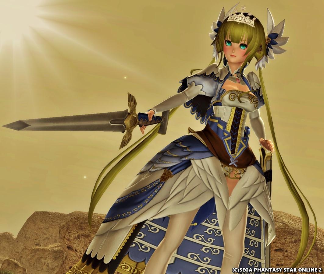 ハリエットの正礼装で剣を構える