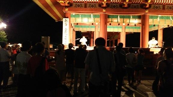 ぼんぼり祭りの舞殿