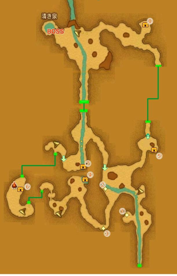 【ドラクエ11】 『霊水の洞窟』 のマップ 地図 宝箱 キラキラなど 【DQ11 攻略】