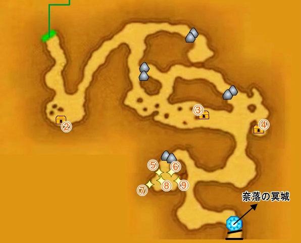 【ドラクエ11】 『勇者の試練・常闇の氷原』 のマップ 地図 宝箱 キラキラ 【DQ11 攻略】