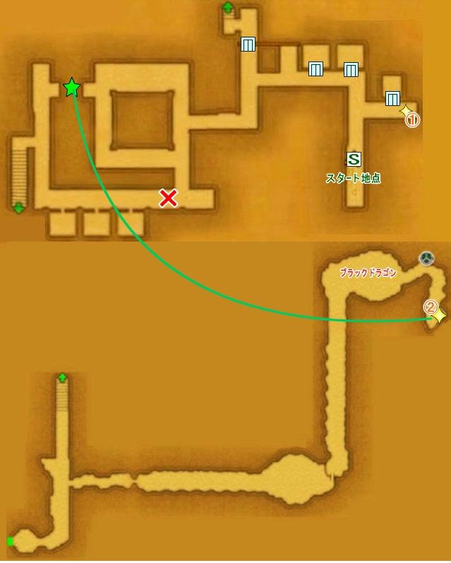 【ドラクエ11】 『デルカダール地下水路』 (序盤)のマップ 地図 キラキラ 【DQ11 攻略】