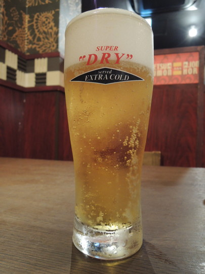 ビール「エクストラコールド」(クーポン使用で無料)