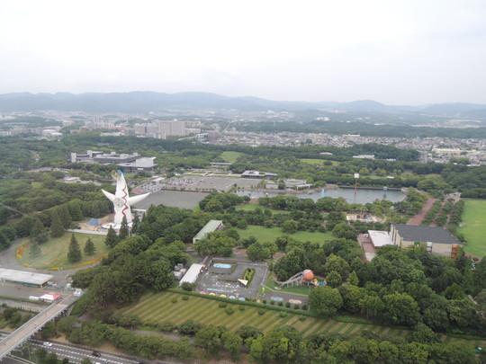 「OSAKA WHEEL」からの眺め