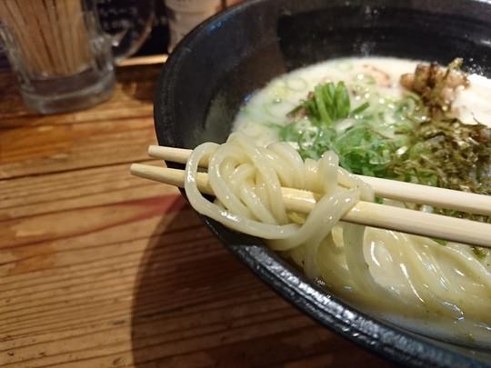 鶏白湯らーめんの麺
