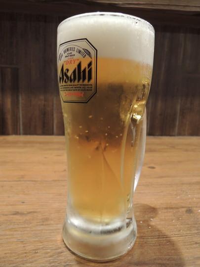 ビール「生中 スーパードライ」2杯目