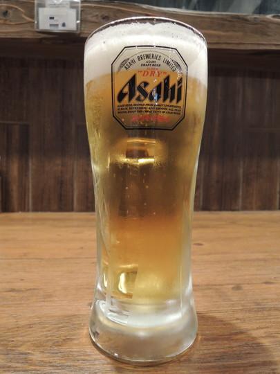 ビール「生中 スーパードライ」3杯目