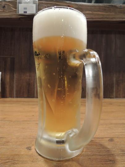 ビール「生中 スーパードライ」4杯目