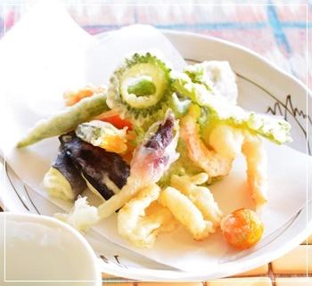 菜園野菜で天ぷら