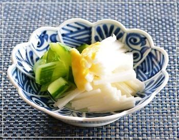 長芋&胡瓜の黄身酢和え