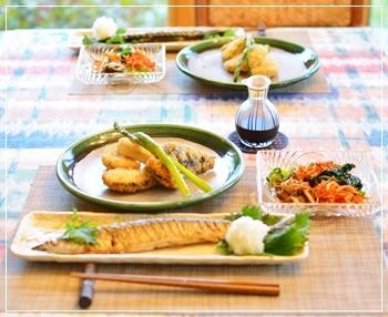 秋刀魚で夕飯