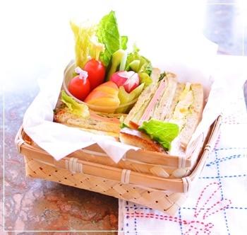 サンドイッチでお弁当火曜日